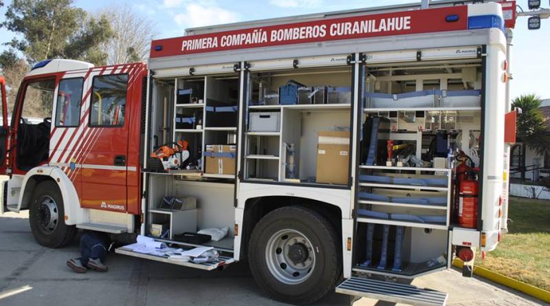 Moderno carro de rescate se suma a Bomberos de Curanilahue
